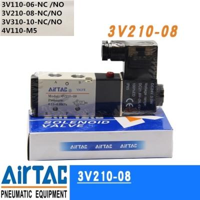 Van điện từ khí nén, solenoid valve AIRTAC 3V110-06, 3V210-08,3V210-06, 3V310-08, 3V310-10 ,4V110-M5