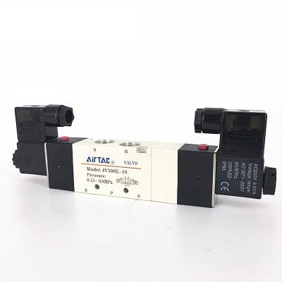 Van điện từ khí nén, solenoid valve AIRTAC 4V330E-10, 4V430E-15, 4V130E-06, 4V230E-08