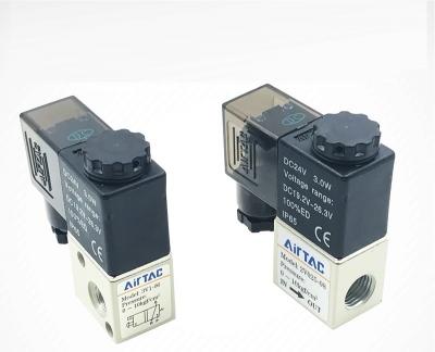 Van điện từ khí nén, solenoid valve AIRTAC 3V1-06/2V025-08/AC220V/DC24V/12V