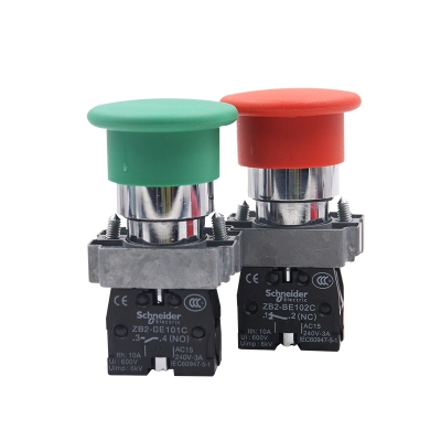 Nút bấm, Schneider button switch XB2-BC31C, XB2-BC42C 22mm