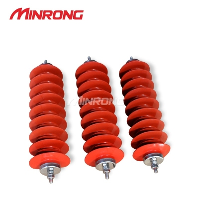Chống sét 35-40.5KV,Minrong 35kv line type arrester HY5WX-51/134 silicone type high voltage arrester HY5WX-42/134
